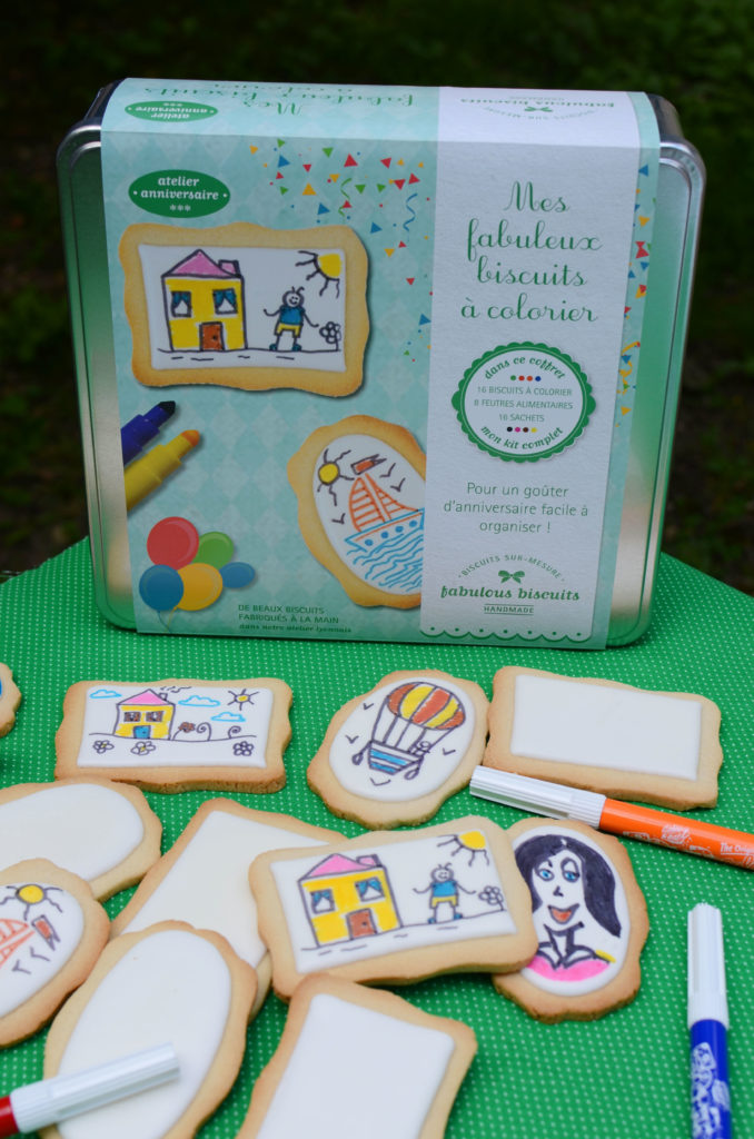 Biscuits à colorier pack anniversaire